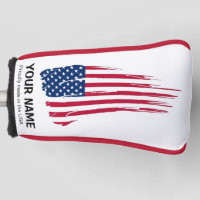 YOUR NAME Golf Head Cover FLAG Personalize
