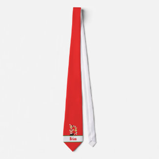 Your Name Here! Custom Letter B Teddy Bear Santas Neck Tie