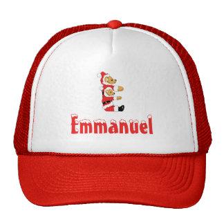 Your Name Here! Custom Letter E Teddy Bear Santas Trucker Hat