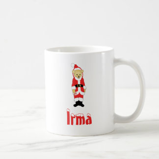 Your Name Here! Custom Letter I Teddy Bear Santas Classic White Coffee Mug
