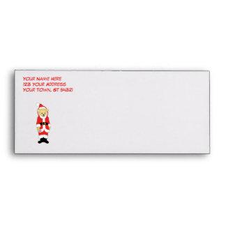 Your Name Here! Custom Letter I Teddy Bear Santas Envelopes
