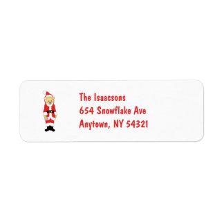 Your Name Here! Custom Letter I Teddy Bear Santas Return Address Label