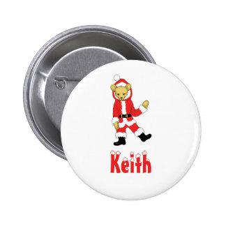 Your Name Here! Custom Letter K Teddy Bear Santas Pinback Buttons