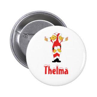 Your Name Here! Custom Letter T Teddy Bear Santas Pin