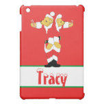 Your Name Here! Custom Letter T Teddy Bear Santas Cover For The iPad Mini