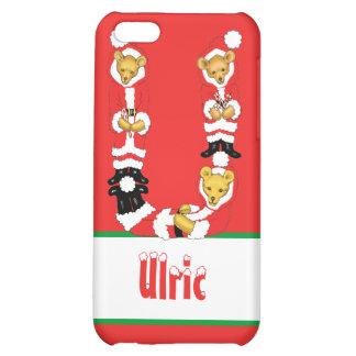 Your Name Here! Custom Letter U Teddy Bear Santas iPhone 5C Case