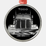 YOUR NAME HERE - Custom Rear-View Mirror Truck Christmas Ornaments