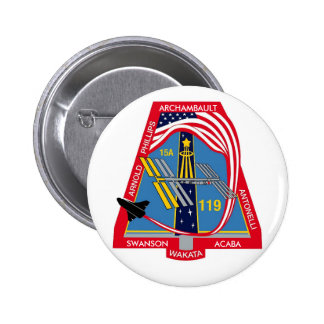 YOUR_NAME_HERE STS-119 Logo Pinback Buttons