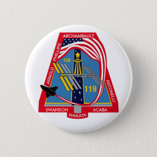 YOUR_NAME_HERE STS-119 Logo Pinback Button