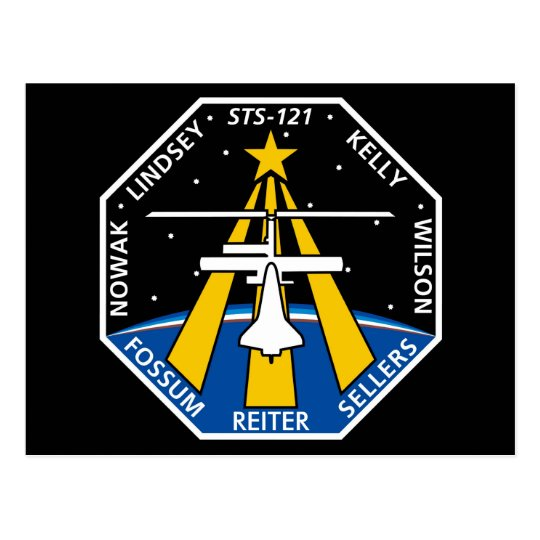 YOUR_NAME_HERE STS-121 Logo Postcard