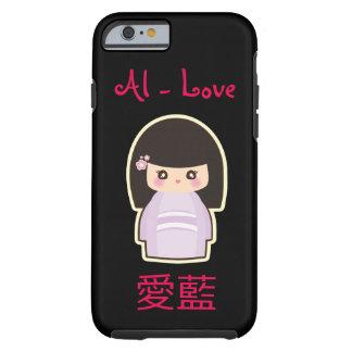 YOUR Name in Japanese and English Kawaii Geisha Tough iPhone 6 Case