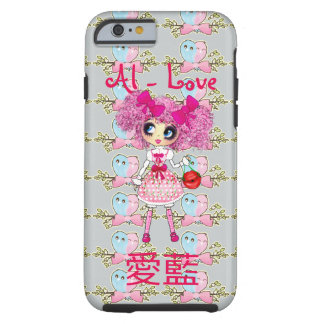 YOUR Name in Japanese and English Kawaii PinkyP Tough iPhone 6 Case