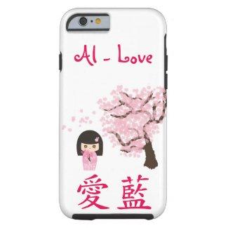 Your name in Japanese Kawaii Geisha girl cheery Tough iPhone 6 Case