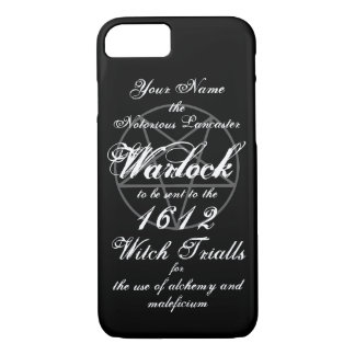 Your Name in Notorious Witch Trials Warlock Black iPhone 8/7 Case