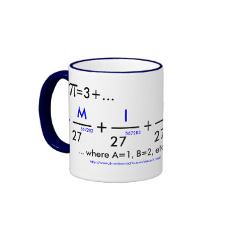 Your name in pi - customizable! mugs