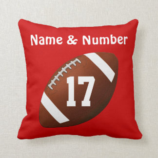 Your NAME & Jersey NUMBER on Football Pillow