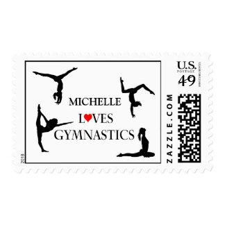 """YOUR NAME"" Loves Gymnastics Postage"