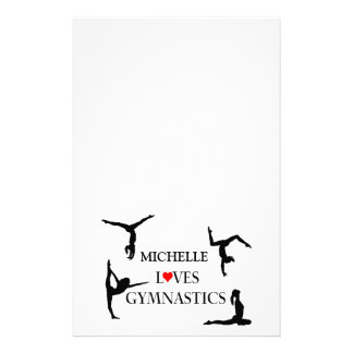 """""""YOUR NAME"""" Loves Gymnastics Stationery"""