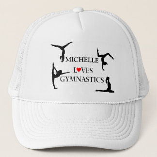 """YOUR NAME"" Loves Gymnastics Trucker Hat"