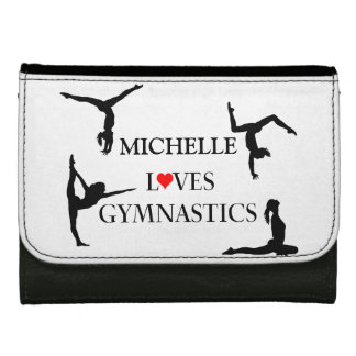 """""""YOUR NAME"""" Loves Gymnastics Wallets"""