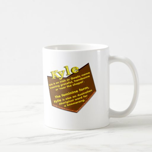 What Is Coffee Maker Definition : Your name mug, origin and meaning: Kyle Coffee Mug Zazzle