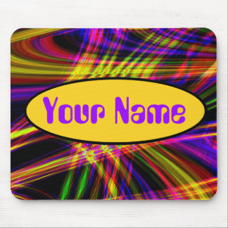 Your Name Neon Psychedelic Mousepad