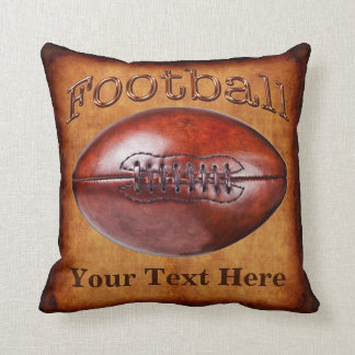 YOUR NAME, NUMBER Coolest Vintage Football Pillow