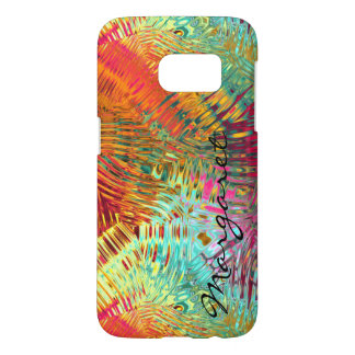 Your Name on Glimmering Rainbow Glass Abstract Samsung Galaxy S7 Case