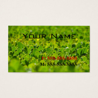 Your Name On green Boxwood Hedge Business Card
