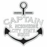Your Name on Nautical Anchor Embroidery Captain Polo
