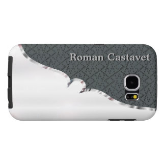 Your name on sturdy faux silver and velvet samsung galaxy s6 case
