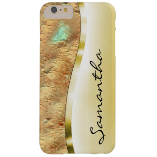 Your name on this luxurious gold barely there iPhone 6 plus case