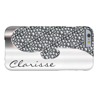 Your name on this super flashy chrome and studs. barely there iPhone 6 case