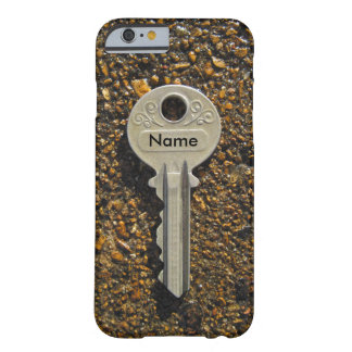 Your Name Or Initials On Vintage Key Pebbles Barely There iPhone 6 Case