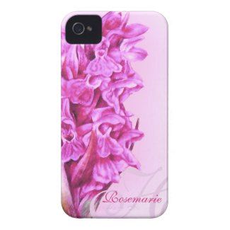 """Your name"" Orchid floral pink iphone4S bare case Iphone 4 Cover"