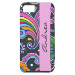 Your Name - Persian Paisley - Green Pink Blue Case For iPhone 5/5S