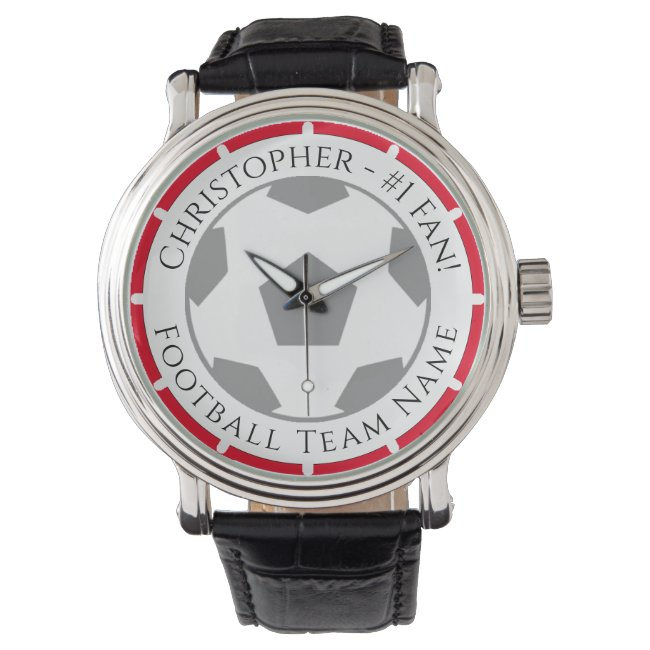 Your Name plus Football Team Name Watch