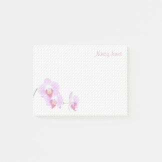 Your Name - Purple Orchid Floral Photography Post-it Notes