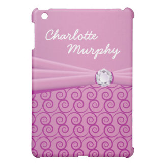 Your Name Purple Silk Bling Case For The iPad Mini