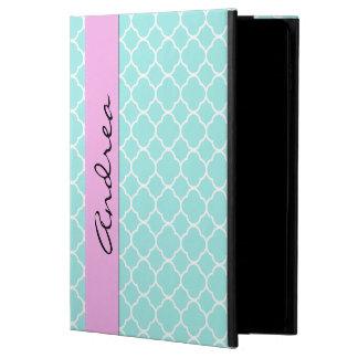 Your Name - Quatrefoil Shape - Blue White Powis iPad Air 2 Case