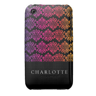 Your Name Rainbow Damask iPhone 3 Case