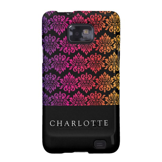 Your Name Rainbow Damask Samsung Galaxy SII Cover