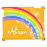 """""""your name"""" rainbow orange kids ipad case"""
