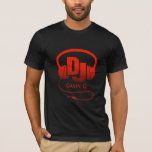 Your Name Red Dj Headphones T-shirt at Zazzle