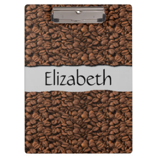 Your Name - Roasted Arabica Coffee Beans - Brown Clipboard