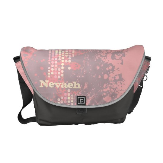 """your name"" seascape coral pink surf dot bag"