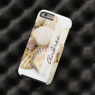 Your Name - Seashells, Cockleshells - Brown White Tough iPhone 6 Case