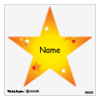 Your Name Shinning Star Wall Decal