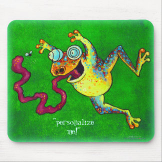 Your name Silly Frog Mousepads