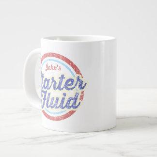 YOUR NAME Starter Fluid Coffee Large Coffee Mug